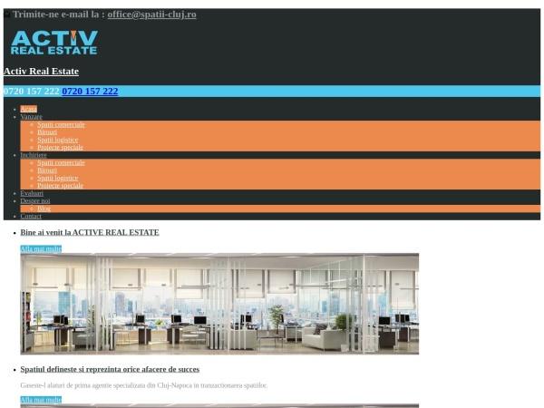 Screenshot of spatii-cluj.ro