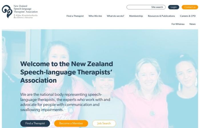 Screenshot of speechtherapy.org.nz