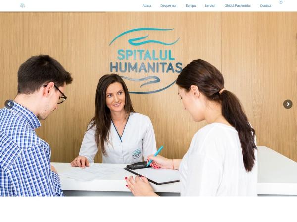 Screenshot of spitalhumanitas.ro