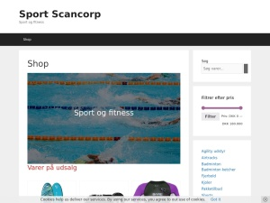 Screenshot of sport.scancorp.dk