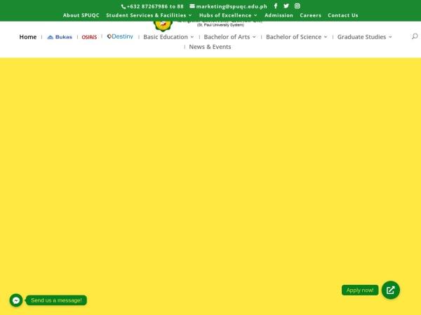 Screenshot of spuqc.edu.ph