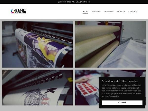 Captura de pantalla de startcolor.com