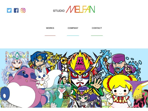Screenshot of studiomelfan.com