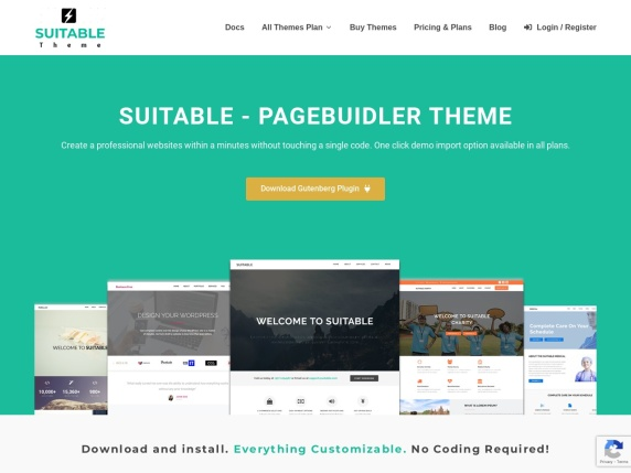 Suitable  Theme homepage