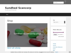 Screenshot of sundhed.scancorp.dk