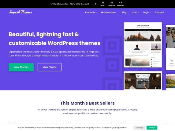 SuperbThemes home page