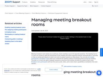 Managing Breakout Rooms – Zoom Help Center