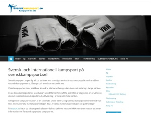Screenshot of svenskkampsport.se