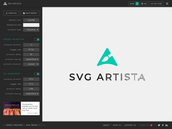 Screenshot of svgartista.net