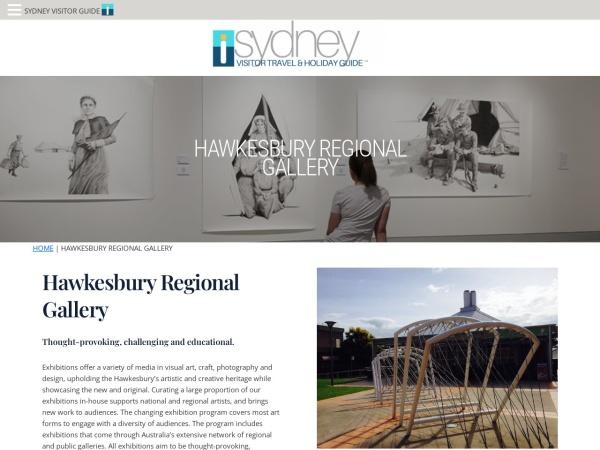 Screenshot of sydneyvisitorguide.com.au