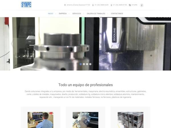 Captura de pantalla de sympe.com.mx