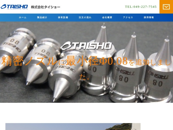 Screenshot of ta1sho.com