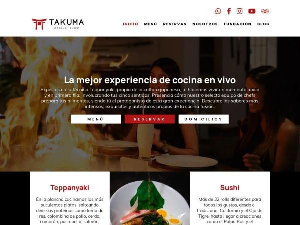 Captura de pantalla de takuma.com.co