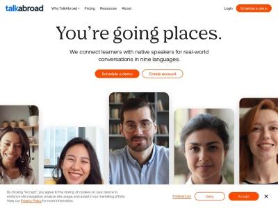 Screenshot of talkabroad.com