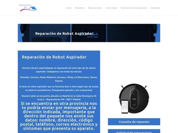Captura de pantalla de tallerdereparaciontm.es