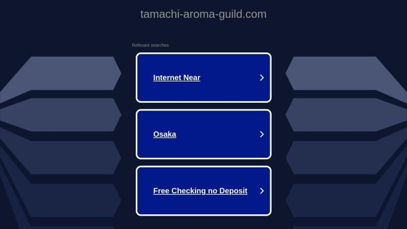 Screenshot of tamachi-aroma-guild.com