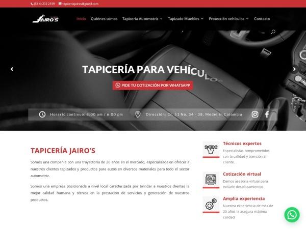 Captura de pantalla de tapiceriajairos.com.co