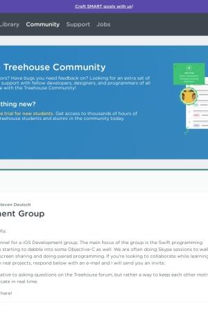 https://teamtreehouse.com/community/ios-development-group