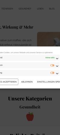 Screenshot von teanchill.de