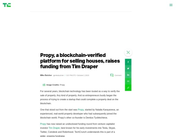 Screenshot of techcrunch.com