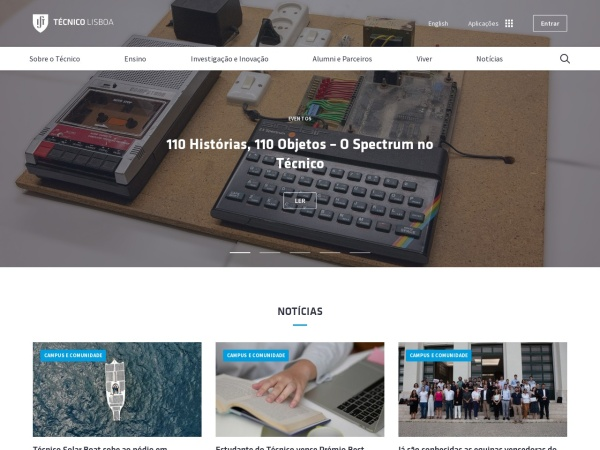 Screenshot of tecnico.ulisboa.pt