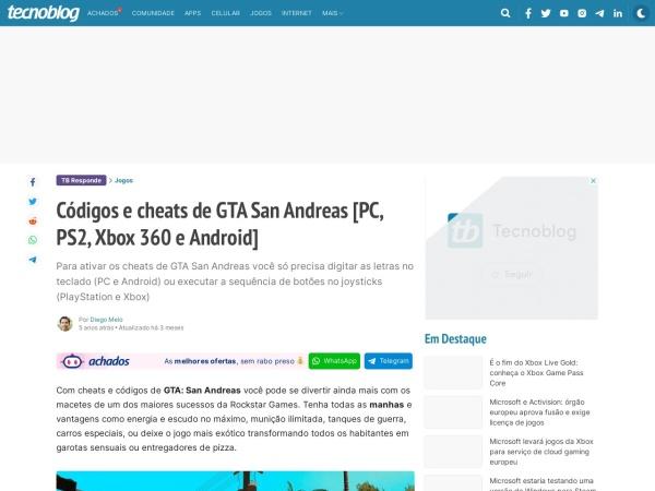 Captura de pantalla de tecnoblog.net