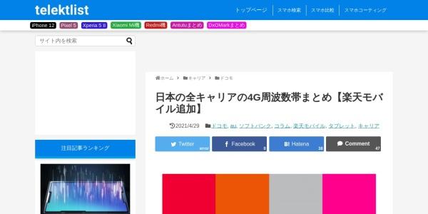 Screenshot of telektlist.com