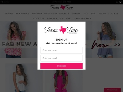 Screenshot of texastwoboutique.com