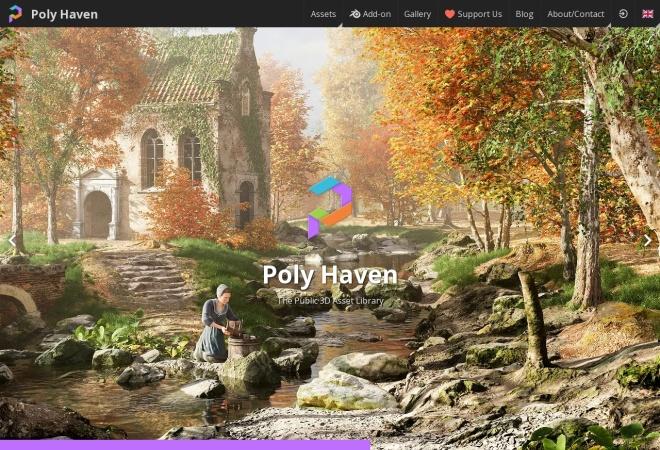 Screenshot of texturehaven.com