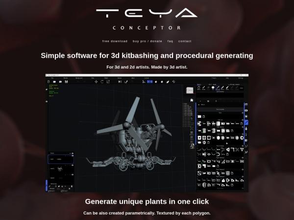 Screenshot of teyaconceptor.com