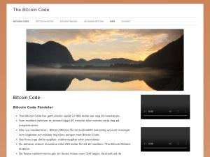 Screenshot of thebitcoincode.se