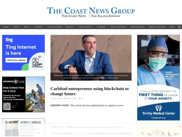 Screenshot of thecoastnews.com