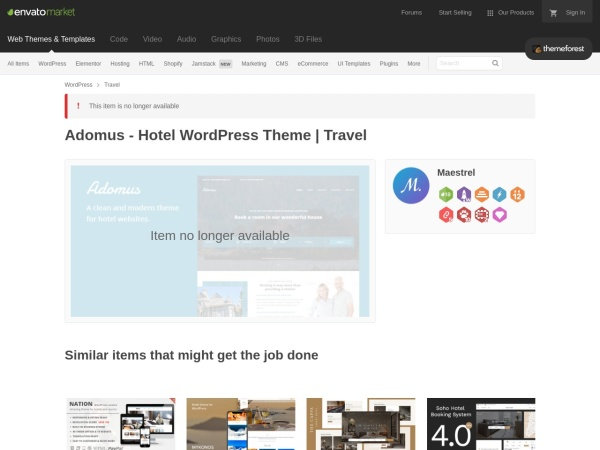 Screenshot of themeforest.net