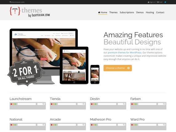 Homepage di Themes by bavotasan.com