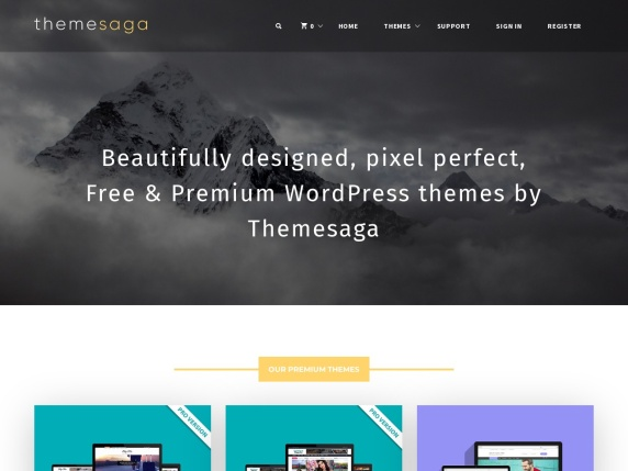 ThemeSaga homepage