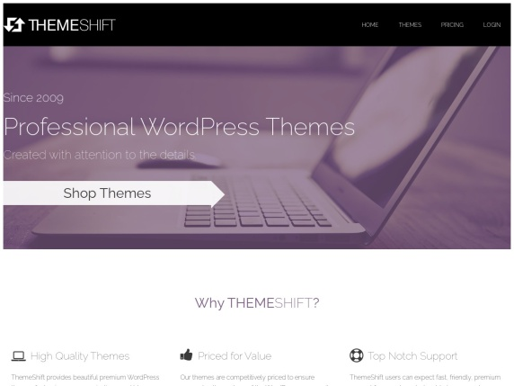 Homepage di ThemeShift