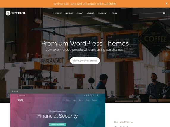 ThemeTrust home page