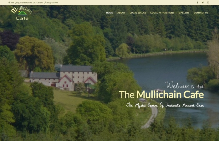Screenshot of themullichaincafe.ie