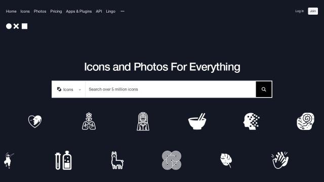 Screenshot of thenounproject.com