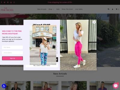 Screenshot of thepinknickel.com