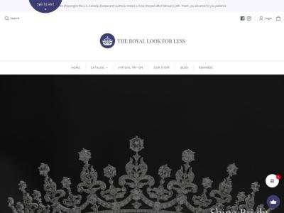 Screenshot of theroyallookforless.com