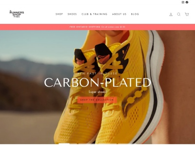 Screenshot of therunnersshop.com