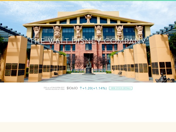 Screenshot of thewaltdisneycompany.com