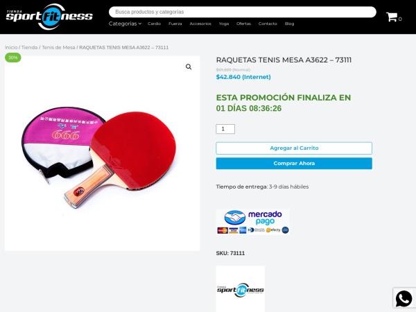 Captura de pantalla de tienda-sportfitness.com