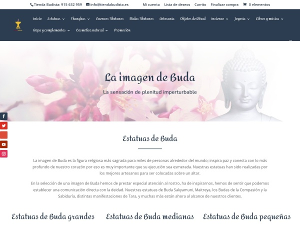Captura de pantalla de tiendabudista.es