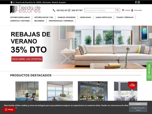 Captura de pantalla de tiendadeestores.com