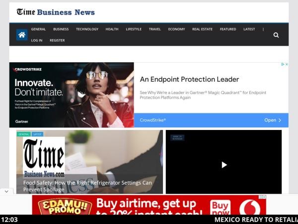 Screenshot of timebusinessnews.com