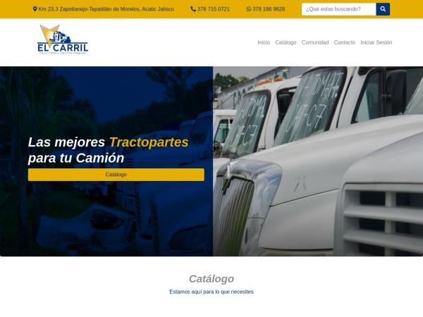 Captura de pantalla de tractoparteselcarril.com.mx