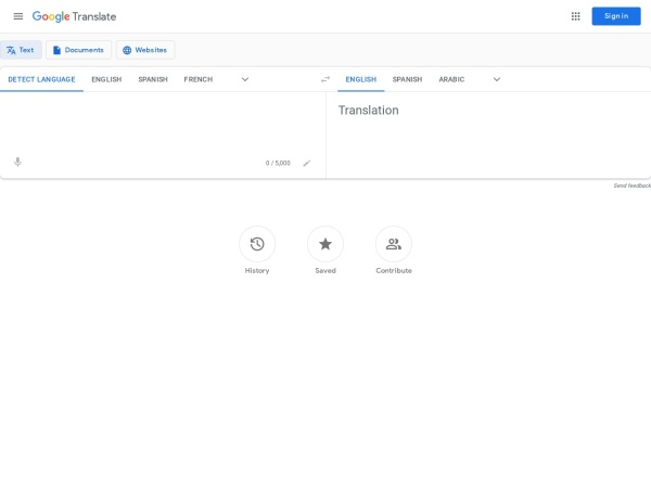 Screenshot of translate.google.com