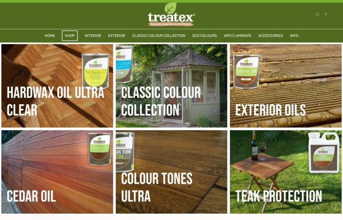 Screenshot of treatex.ie